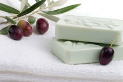 Soap spa set Stock Photography