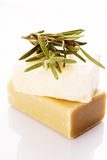 Soap with a sprig of rosemary Stock Images