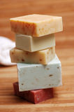 Soap Stack. Colorful stack of natural, handmade soap Royalty Free Stock Image