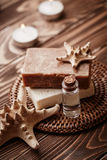 Soap with starfish Royalty Free Stock Photo