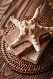 Soap with starfish Royalty Free Stock Photography