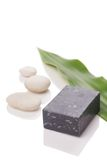 Soap with stones Royalty Free Stock Image