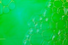 Soap suds extreme closeup creating geometric pattern Stock Image