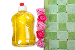 Soap and towel Royalty Free Stock Image