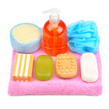 Soap on towel Royalty Free Stock Images