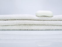 Soap and towels Royalty Free Stock Image