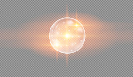 Soap water bubbles. On checkered background, glowing light effect stars bursts with sparkles on transparent background. Glowing light. vector illustration Royalty Free Stock Photography
