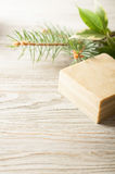 Soap on a wooden background Royalty Free Stock Photos