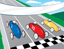 Soapbox Derby Race. A vector illustration of a soapbox derby race Stock Photography