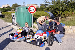 Soapbox race organized in the village of Tornac Stock Photography