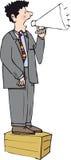 Soapboxman royaltyfri illustrationer