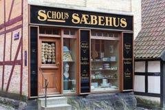 Soaphouse en la ciudad vieja en Aarhus, Dinamarca Imagen de archivo