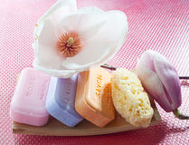 Soaps And Flowers Stock Images