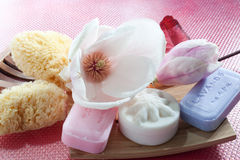 Soaps And Sponges Stock Photos