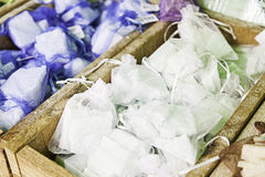 Soaps artisans bagged Stock Photos