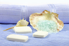 Soaps and Bath Salts Royalty Free Stock Photography