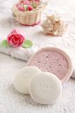 Soaps for bath and spa treatment Royalty Free Stock Photography