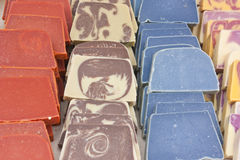Soaps by a fair. Aromatic soaps by a fair Stock Photos