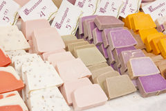 Soaps by a fair. Aromatic soaps by a fair Stock Images