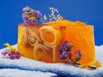 Soaps with Flowers Stock Photography
