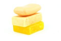 Soaps isolated on white background Stock Photo