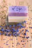 Soaps and lavender Royalty Free Stock Images