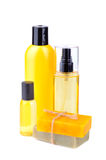 Soaps and lotions royalty free stock photography