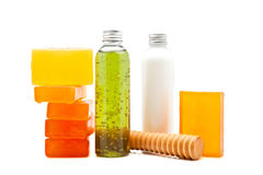 Soaps and lotions Royalty Free Stock Image