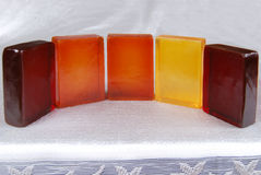 Soaps. Orange color, beautiful scented soaps Royalty Free Stock Images