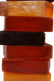 Soaps. Orange color, beautiful scented soaps Stock Images
