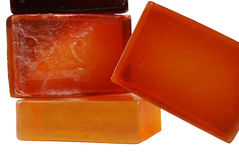 Soaps. Orange color, beautiful scented soaps Royalty Free Stock Photos