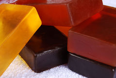 Soaps. Orange color, beautiful scented soaps Stock Photos