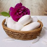 Soaps with rose Royalty Free Stock Images