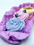 Soaps shaped cupcake Royalty Free Stock Images