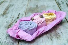 Soaps shaped cupcake Royalty Free Stock Photo