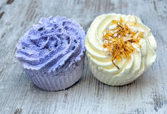 Soaps shaped cupcake Stock Images