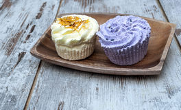 Soaps shaped cupcake Stock Photography