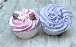 Soaps shaped cupcake Stock Image