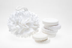 Soaps and sponge Royalty Free Stock Photo