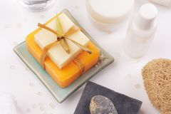 Soaps top view Stock Photography