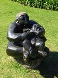 Soapstone carving at Kirstenbosch gardens Stock Photo