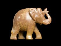 Soapstone elephant sideways Royalty Free Stock Photos