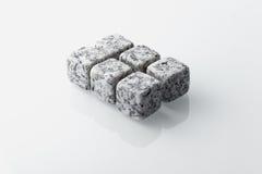 Soapstone whiskey stones set of 6. Royalty Free Stock Photo