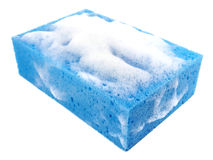 Soapy bath sponge Royalty Free Stock Images