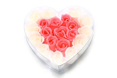 Soapy roses arranged in a heart form Royalty Free Stock Photos