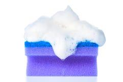 Soapy sponge closeup Royalty Free Stock Photo