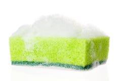 Soapy sponge. On white background Stock Photography