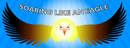 Soar like an eagle- Facebook timeline stock illustration