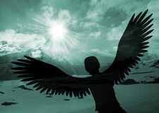 Soar like an eagle. Those who hope in the lord,they will soar on wings like eagles Royalty Free Stock Photography