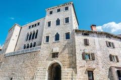 Soardo-Bembo Palace, Bale, Istria, Croatia. Travel destination. Architectural theme stock image